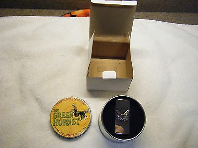 Vintage Classic 1966 Tv Series Green Hornet Money Clip And Tin Case & Lid & Box