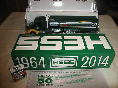 CHRISTMAS DAY   2014 Collector's Edition HESS Toy Truck 50th Anniversary TRUCKS
