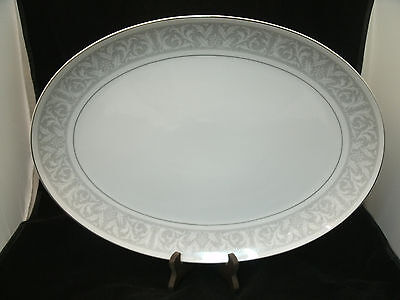 "Imperial China WHITNEY Large 16 1/2"" Oval Serving Platter W Dalton #5671 Japan"