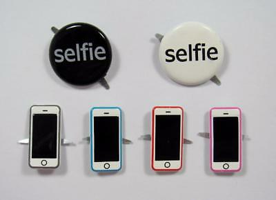 BRADS MOBILE PHONE / SELFIE  pk of 6  split pin craft scrapbooking