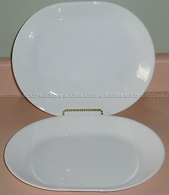 """{2} Corelle Corning Winter Frost White Oval Serving Platters Trays 12 1/4"""" x 10"""""""