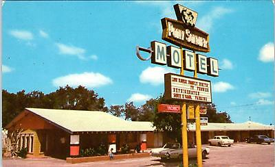 TUCUMCARI, NM New Mexico  PONY SOLDIER MOTEL  Rt 66 Cool  c1960s  Cars  Postcard
