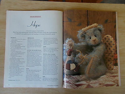 ADB&C Vol 3 #3~Doll & Bear Patterns~Hope~Ben & Roland~Daisy Solling~Miniatures