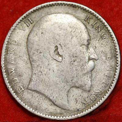 1906 India Rupee Silver Foreign Coin Free S/H