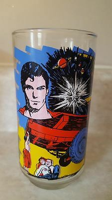 SUPERMAN THE MOVIE Drinking Glass KAL-EL COMES TO EARTH 1978 DC COMICS VINTAGE