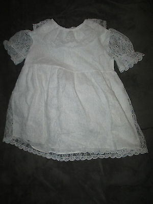Vintage Baby Girl Dress White Lace Roget 3T