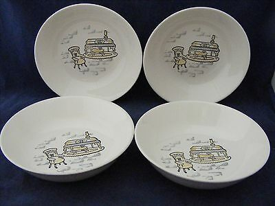 """8 Marcrest Stetson Gay Nineties 5 3/8"""" Fruit Bowls See Condition Description"""