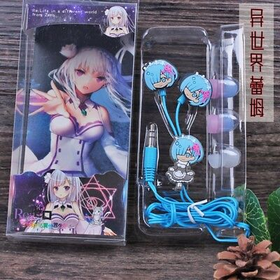 Re:Zero Starting Life in Another World Rem Earphones In-Ear Headset With Earbuds