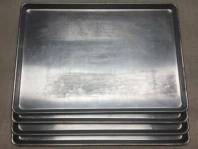 "LOT OF 4-17 3/4"" x 25 3/4"" FULL SHEET BAKING PANS-SEASONED LOT FROM PIZZA SHOP"
