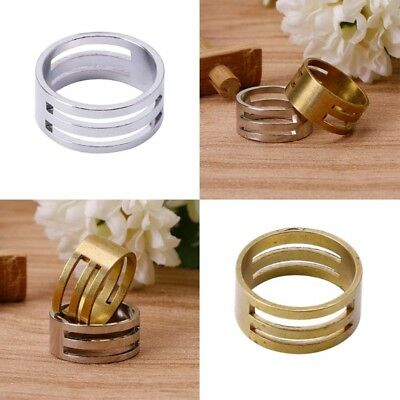 2Pcs Thimble Ring Finger Protector Metal Aluminum Sewing Quilting Craft Tool DIY