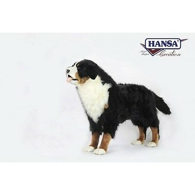 New NWT Hansa Life Like Handmade Stuffed Animal Life-Sized Bernese Mountain Dog