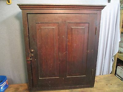 Antique Wall Tool Cabinet w/ History Included /   JE 206