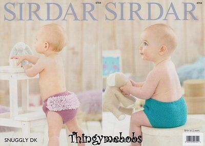 Sirdar 4704 Snuggly Dk Baby Nappy Covers Original Knitting Pattern