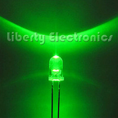 100 pcs. HIGH QUALITY ROUND LED GREEN COLOR 10mm