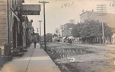 LP38 South Whitley Indiana,  Old Antique Vintage Postcard, RPPC real photo image