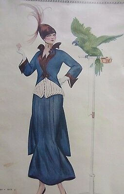 Vintage  Henry Hutt House of Paquin Fashion Magazine Page Print