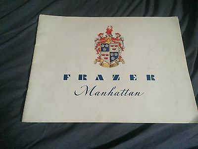 1947 1948 Frazer Manhattan 24 Page Color Brochure Catalog Prospekt