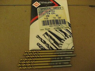 Cleveland M-33 Tin-Coated Drills (Aa2443-39)