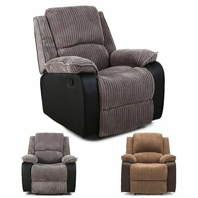 Postana Jumbo Cord Fabric Power Recliner Armchair Electric Sofa Reclining Chair