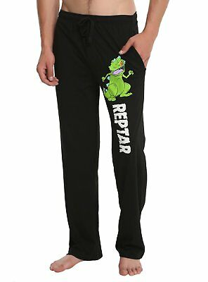 Mens Womens NEW Rugrats Reptar Black Pajama Lounge Pants Size S-XL