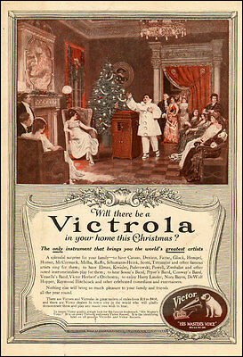 1917 vintage AD VICTROLA Phonograph Have Caruso in your home at Christmas 062217