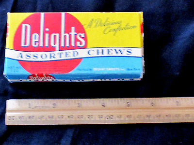 "c1950 Candy Box for ""Delights"", Assorted Chews"