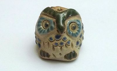 chouette miniature en grès, oiseau collection, hibou , owl, uil  **CL8-20
