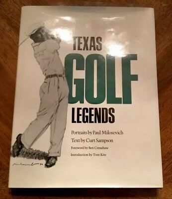 Byron Nelson 2X Masters Winner Hof Autographed Signed Texas Golf Legend's Book