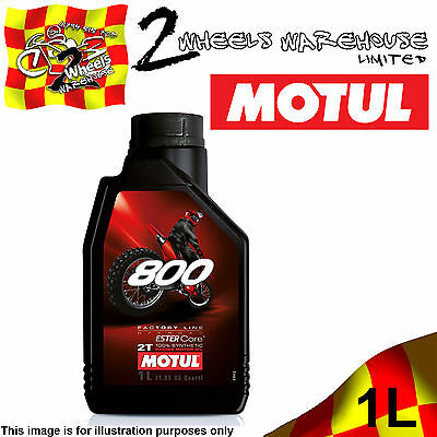 1x 1L MOTUL 800 OFF ROAD 2T FACTORY LINE ESTER CORE 100% FULLY SYNTHETIC OIL