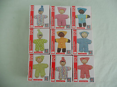 Hape Happy Babies Toddler Pocket Dolls Set of 9 for Dollhouse and/or Miniatures