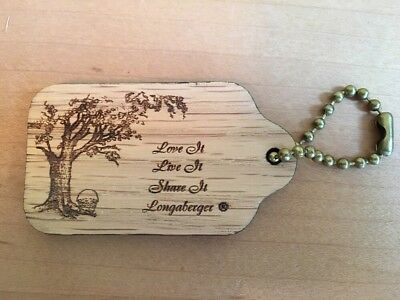 Longaberger Bee 2003 / WoodCrafts Love It Live It Share It Key Chain - USA!