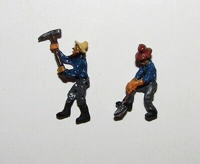 PRS~ Gold Coast Sn3 / S scale 2 x Metal Prospector / Mining Figures - Painted