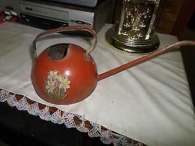 Antique 1940's Metal Watering Can,