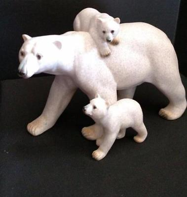Amy & Addy Polar Bear Family Mother & Cubs Figurine AAC1788 Retired