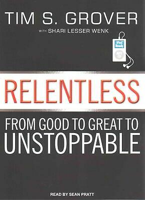 Relentless: From Good to Great to Unstoppable by Tim S. Grover (English) MP3 CD