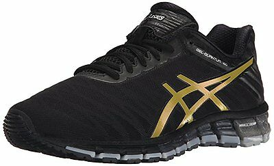 Asics Gel QUANTUM 180 Mens Running Shoes size 10 NEW BLACK GOLD SILVER