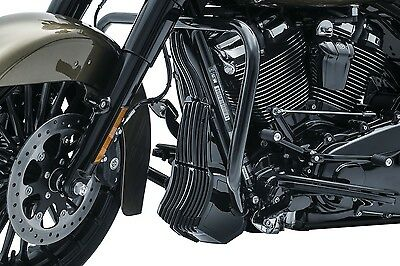 Kuryakyn 6418 Black Precision Oil Cooler Cover for 2017-2018 Harley Touring