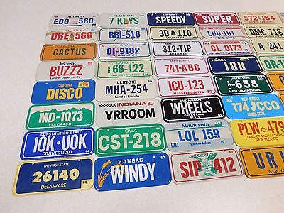 Complete set of 1980 United States Honeycomb cereal license plate premiums