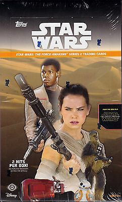 Topps Star Wars : The Force Awakens series 2 unopened hobby box 24 packs of 8