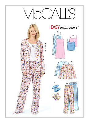 Sew & Make McCall's M4979 SEWING PATTERN - Womens GOWNS PAJAMAS SLIPPERS sz 4-14