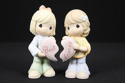 Precious Moments 2 Figurines Best Friends Share The Same Heart 2001 W/O Boxes