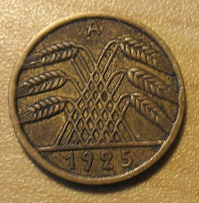 NICE DETAIL 1925 A German 5 Pfennig coin