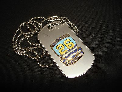 """US Navy DESTROYER SQUADRON 26 """"PAR EXCELLENCE"""" Stainless Steel Dog Tag + Chain"""