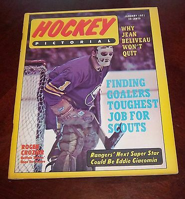 Hockey Pictorial January 1971 Roger Crozier # 2