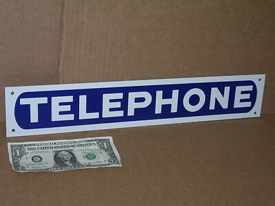 """TELEPHONE - Long Narrow -- 3"""" Tall x17"""" Long -- TIN SIGN -- Fits in Small Places"""