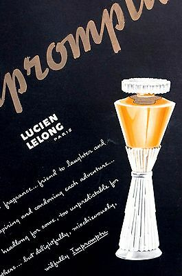 Impromptu Perfume 1937 PARIS FRANCE PARFUM Lucien Lelong Print Ad Advertising