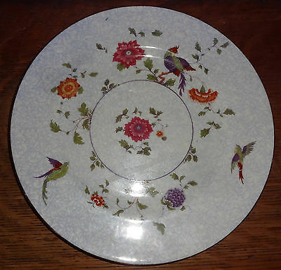 "Crown Staffordshire Bird of Paradise  9-3/8"" Dinner / Lunch Plate"