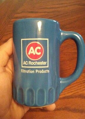 AC Delco Oil Filter Blue Coffee Mug Cup Tea GM Chevy 1965 66 67 68 Vintage