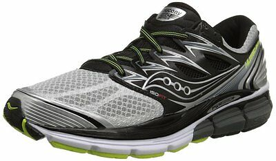 Saucony HURRICANE ISO Mens Running shoes size 9 NEW SILVER BLACK CITRON