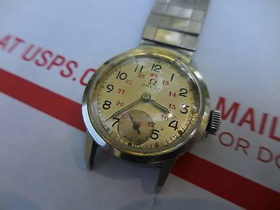 Vintage Omega 15 Jewel Military Style Watch Wristwatch